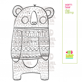 Warm bear digistamp